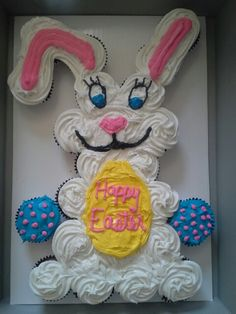 2013 easter bunny cupcake cake