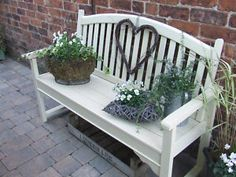 Bench For Guest Book... Not Painted Tho. Small Garden BenchGarden Seating Wooden ...