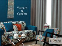 Homes, a colorful treat to your eyes that gorgeously expresses your deeper self. Explore more @ www.homesfurnishings.com #HomesFurnishings #Cushions #Furnishings #Interiors #HomeDecor #Decor #Curtains #Upholstery