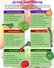 So easy salad dressing tip sheet for FREE!