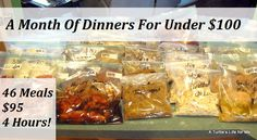 A Month Of Dinners For Less Than $100