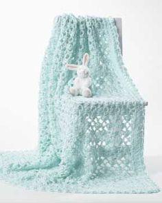 Crochet - Lacy baby blanket. Free crochet baby blanket pattern