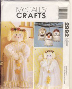 McCall's 2992 Christmas Angels Crafts Pattern Uncut FF Christmas Crafts Sewing, Christmas Angel Crafts, Sewing Crafts, Christmas Patterns, Merry Christmas, Modern Sewing Patterns, Mccalls Sewing Patterns, Craft Patterns, Vintage Cross Stitches