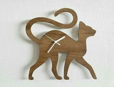 Items similar to Wooden Clock, Whale Bamboo Clock, Gift for Children and Adults, Ocean Themed Baby Nursery Decor, Decorative Wood Animal Clock on Etsy Cat Crafts, Wood Crafts, Diy And Crafts, Cat Clock, Clock Art, Homemade Clocks, Wood Plastic, Wood Animal, Deco Originale