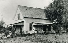 Bernice and George Bott relax on the porch of their Colony House located near Strathearn Station in Simi Valley in the Simi Valley, Colonial, Porch, The Past, Southern, Relax, California, Homes, History