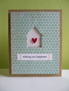 New home card using PTI dies and greeting- using cut outs as a feature Welcome Home Cards, New Home Cards, House Of Cards, Scrapbooking, Scrapbook Cards, Paper Cards, Diy Cards, Xmas Cards, Card Making Inspiration