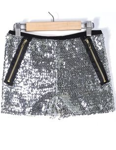 Shop Silver Zipper Sequined Straight Shorts online. Sheinside offers Silver Zipper Sequined Straight Shorts & more to fit your fashionable needs. Free Shipping Worldwide!
