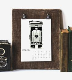 2016 Vintage Camera Photo Desk Calendar | Dedicated to the original photo-taking device, pre-smartphone,... | Calendars, Organizers & Planners
