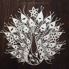 Peacock Papercut Template Personal use by LouiseBellArt on Etsy