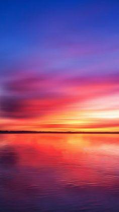 Burning Lake Sky Reflection  #iPhone #5s #Wallpaper