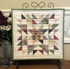 Summer Star Mini Quilts | A Quilting Life - a quilt blog Love the quilting.