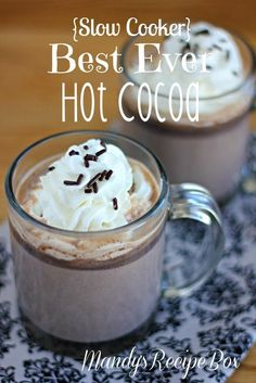 {Slow Cooker} Best Ever Hot Cocoa