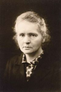 Marie Skłodowska-Curie (7 November 1867 – 4 July 1934) was a French-Polish physicist and chemist, famous for her pioneering research on radioactivity. She was the first person honored with two Nobel Prizes — in physics and chemistry. She was the first female professor at the University of Paris, and in 1995 became the first woman to be entombed on her own merits in the Panthéon in Paris.