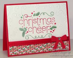 Stampin' Up! Cheerful Christmas - Create With Christy - Christy Fulk, Stampin' Up! Demo