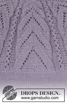 Ravelry: Magic Web pattern by DROPS design Designer Knitting Patterns, Web Patterns, Drops Patterns, Knitting Patterns Free, Textures Patterns, Free Pattern, Drops Design, Lace Knitting, Knit Crochet