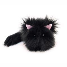 Poe the All Black Cat Stuffed Plush Toy- Fuzziggles