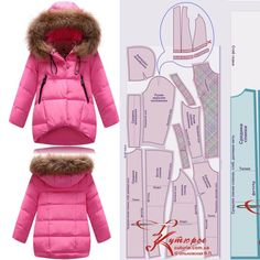 Barbie Sewing Patterns, Baby Dress Patterns, Baby Makes, Jacket Pattern, Baby Winter, Crochet Baby, Doll Clothes, Kids Fashion, Jackets For Women