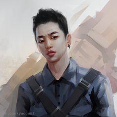 #art, #fanart, #digital, #bap, #bestabsoluteperfect, #kpop, #bangyongguk, #yongguk, #SAI, #fantasy, #portrait