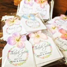 結婚式のサンキュータグにハトメパンチでお花を付ける方法・やり方 | marry[マリー]
