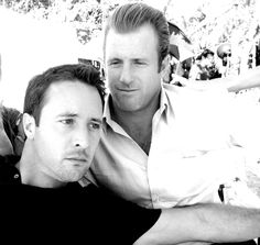 Scott Caan and Alex O'Loughlin ...aka hottie #1and hottie #2 :)