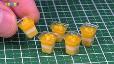 DIY Fake food - Miniature Mango Mousse ミニチュアマンゴームース作り