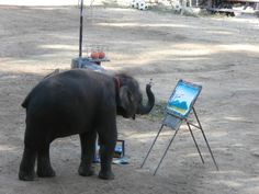 A painting elephant!