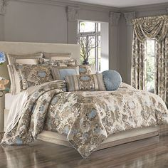 J Queen New York Jordyn Olivia King Comforter Set - Bedding Collections - Bed & Bath - Macy's Luxury Comforter Sets Queen, Queen Comforter Sets, Chic Bedding, Bedding Sets Online, Comforters, Bedroom Decor, Garden Bedroom, Decoration, Furniture