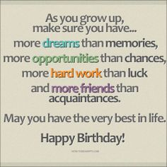 Happy Birthday Inspirational Quotes - 21 Birthday Wishes