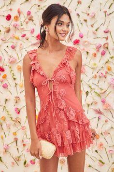 Jones Dress in Rose   Lovers + Friends - Lovers + Friends