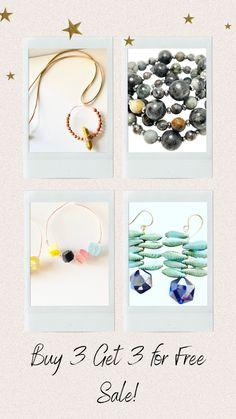 Buy 3 Get 3 Jewelry Sale Stuff To Buy, Free, Jewelry, Jewlery, Jewerly, Schmuck, Jewels, Jewelery, Fine Jewelry