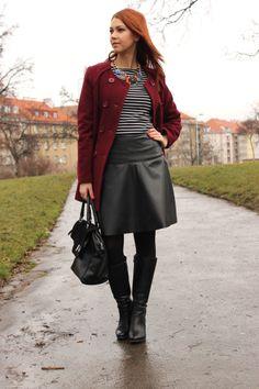 Leather skirt http://www.margifashion.blogspot.com