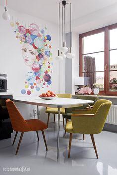 Woman wallpaper in kitchen by Fototapeta4u.pl