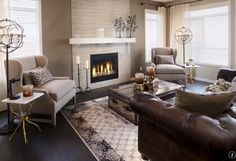 Decorating Around A Leather Couch Living Room Decor With Brown Sofa Cream And