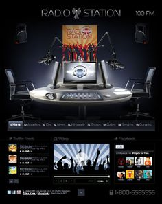 Radio Station html5 website template - a fresh idea for your online project.   Price - $29