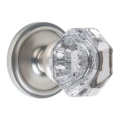 Nostalgic Warehouse Satin Nickel Waldorf Crystal Full Dummy Knob-703556 at The Home Depot