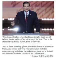 Ted Cruz on Voting One's Conscience at 2016 GOP National Convention