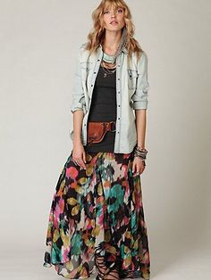 Awesome Floral Maxi Dress Free People FP ONE Desert Florals Maxi Skirt Check more at http://24myshop.ml/my-desires/floral-maxi-dress-free-people-fp-one-desert-florals-maxi-skirt/