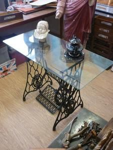 Upcycled-Treadle-Sewing-Machine-Table-Clear-Glass-Top