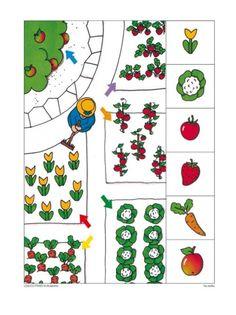 Libro de atención Preschool Garden, Preschool Math, Kindergarten, Home Activities, Brain Activities, Picture Comprehension, Visual Perception Activities, Sudoku, Sequencing Cards