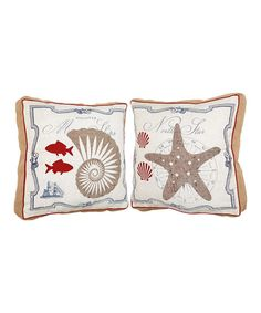 Another great find on #zulily! Nautical Pillow Set by Evergreen #zulilyfinds