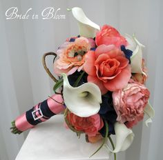 bridal bouquet with coral color flowers   Email This BlogThis! Share to Twitter Share to Facebook Share to ...