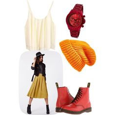 A fashion look from January 2015 featuring Dr. Martens boots, a_line watches and Topshop hats. Browse and shop related looks.