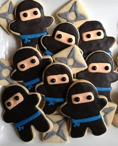 throwing star cookies - Google Search