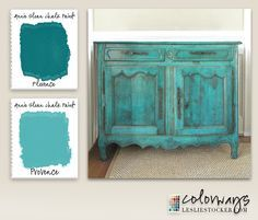 A vintage sideboard is given a quick upgrade with Annie Sloan Chalk Paint®. Primarily painted in Florence, with highlights of Provence, sealed with Clear Wax. Dark Wax is used to enhance dep… Annie Sloan Painted Furniture, Chalk Paint Furniture, Annie Sloan Chalk Paint, Hand Painted Furniture, Furniture Projects, Furniture Makeover, Diy Furniture, Upcycled Furniture, Turquoise Painted Furniture