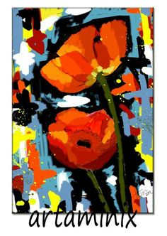 Papaveri #red #art #flowers #fiori #rossi #modern #arredo #casa #natura