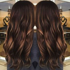 60 Chocolate Brown Hair Color Ideas for Brunettes dark brown hair with caramel babylights Brown Hair With Highlights, Brown Hair Colors, Asian Highlights, Color Highlights, Peekaboo Highlights, Natural Highlights, Mocha Hair, Mocha Brown Hair, Chocolate Brown Hair Color