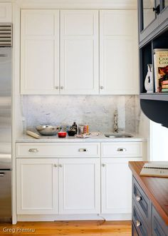traditional kitchen by Jeanne Finnerty. Bar sink?