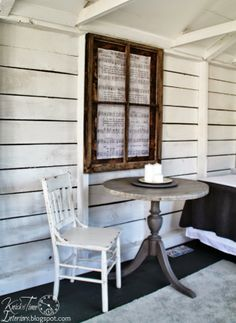 DIY Window Frame Wall Art w/ FREE Antique Hymn Page Printable ~ via Knick of Time @ knickoftimeinteriors.blogspot.com