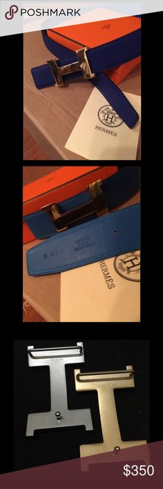 Authentic men's Hermes belt 100% authentic. Comes with everything you see. If you have any questions message me at 347-786-7893 Hermes Accessories Belts