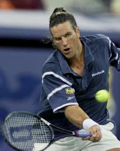 Pat Rafter's samurai look...saw him play at US Open vs. Agassi.. great match!